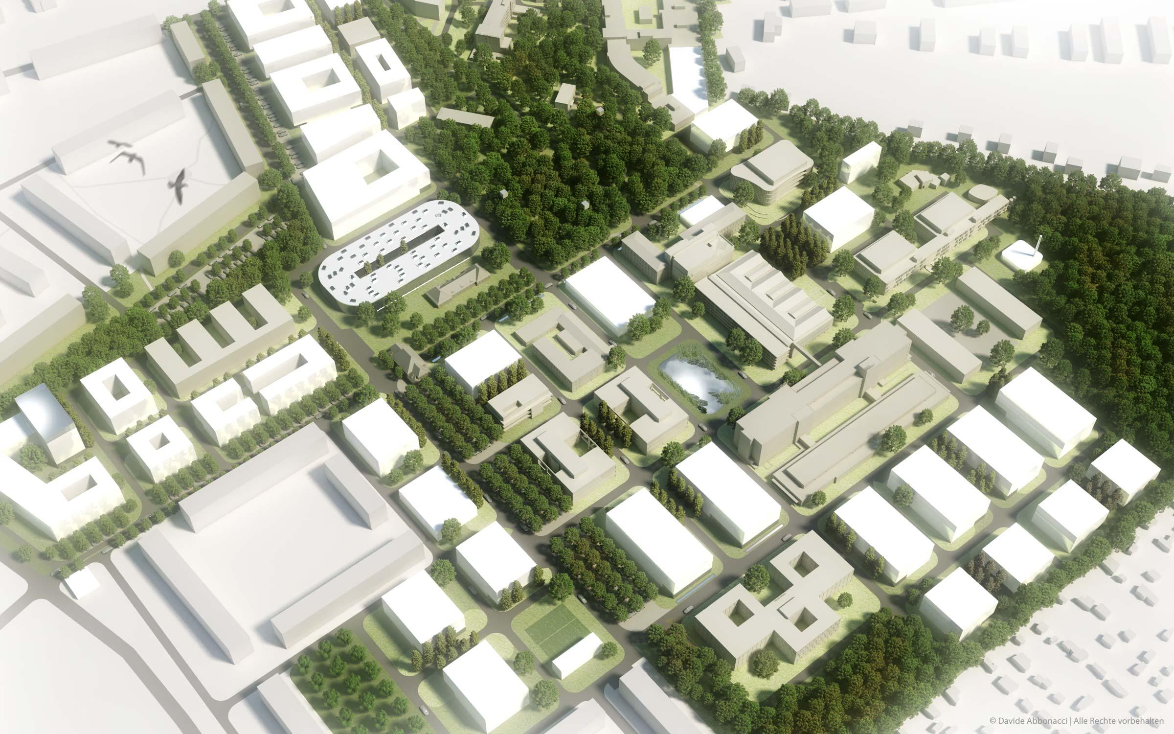 Campus Berlin-Buch, Berlin   Heide & Von Beckerath Architekten   2010 Wettbewerbsvisualisierung   2. Preis