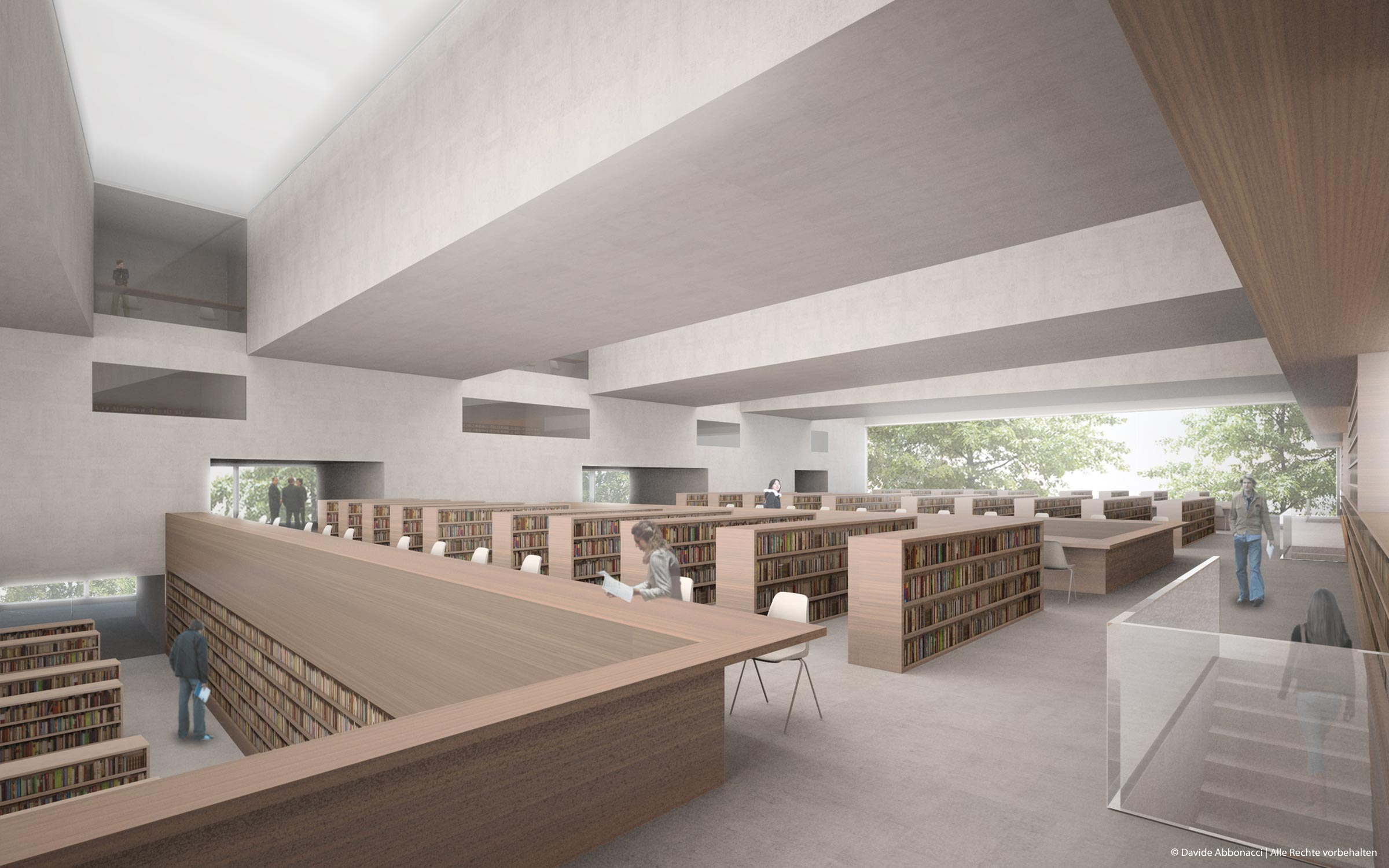 Hochschul und Landesbibliothek, Fulda | Bruno Fioretti Marquez Architekten | 2009 Wettbewerbsvisualisierung