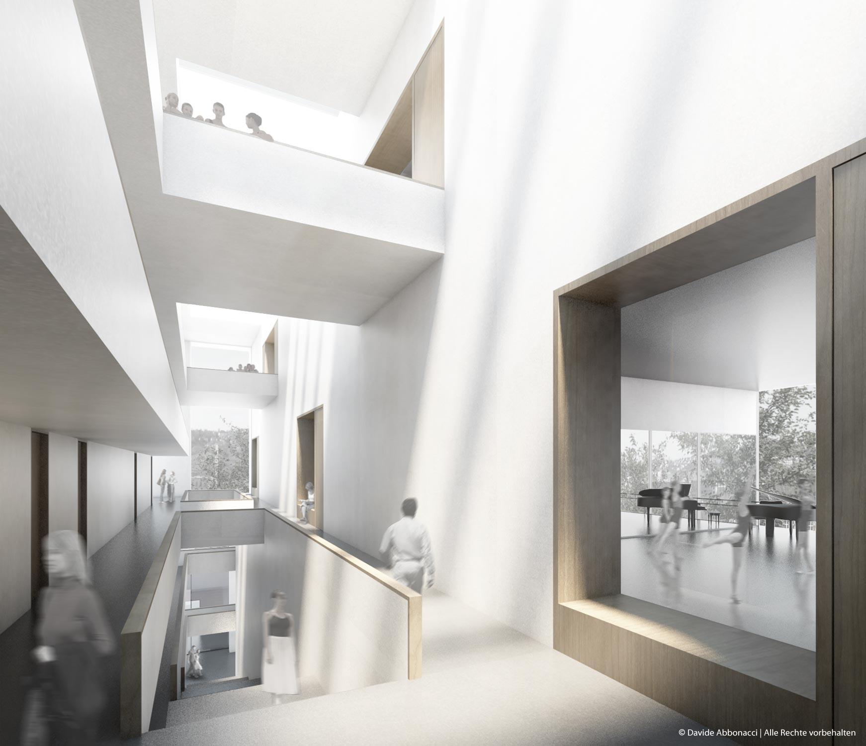 J. Cranko Ballettschule, Stuttgart | gmp Architekten von Gerkan, Marg und Partner | 2011 Wettbewerbsvisualisierung | 2.Preis