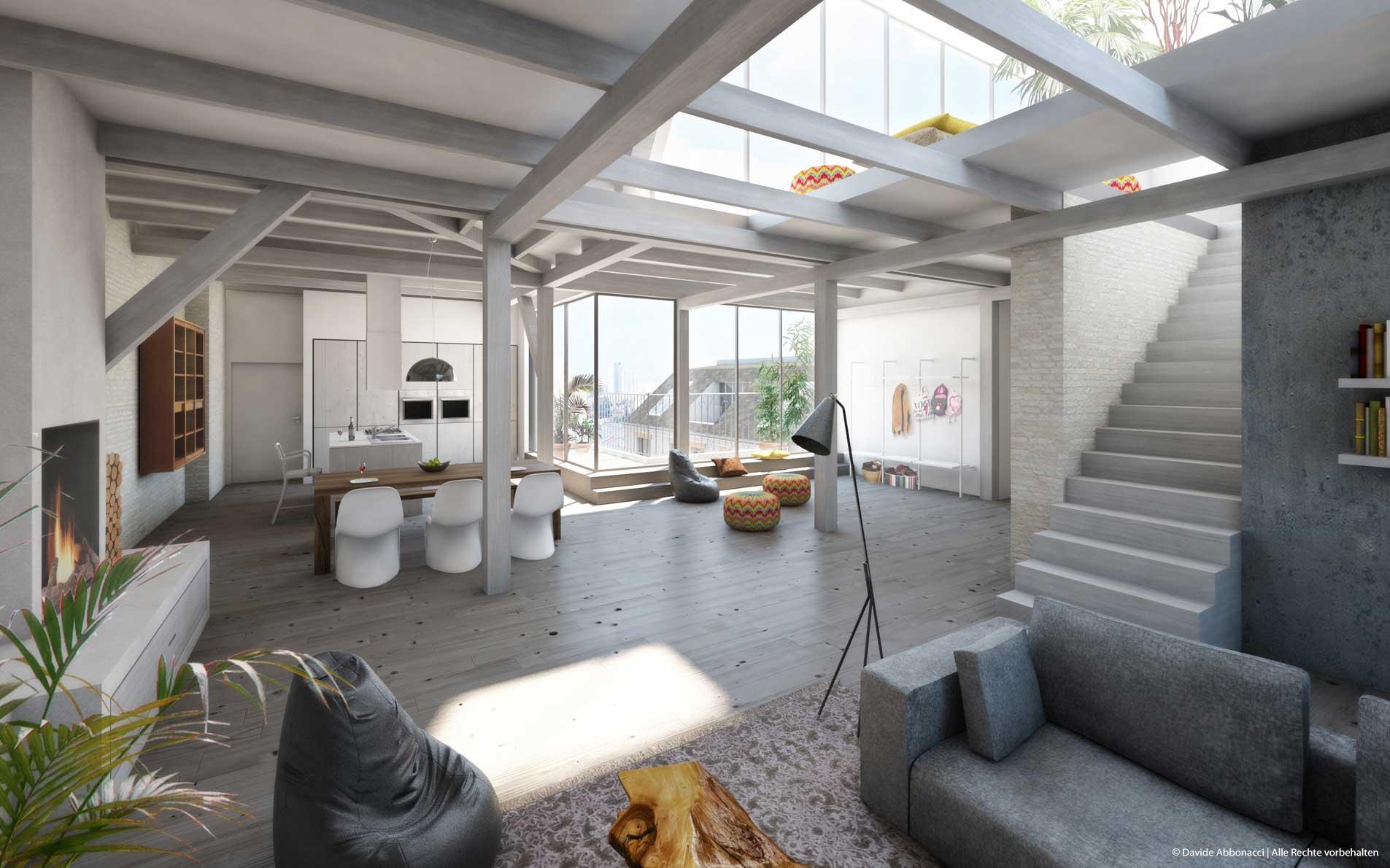 Wohnungsumbau Friedrichstraße 17, Berlin | Guder Hoffend Architekten | 2013 Studie
