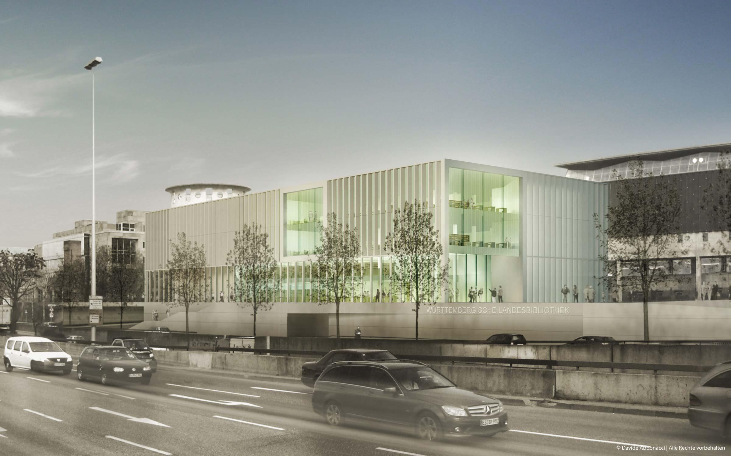 Württembergische Landesbibliothek Stuttgart | gmp Architekten von Gerkan, Marg und Partner | 2010 Wettbewerbsvisualisierung