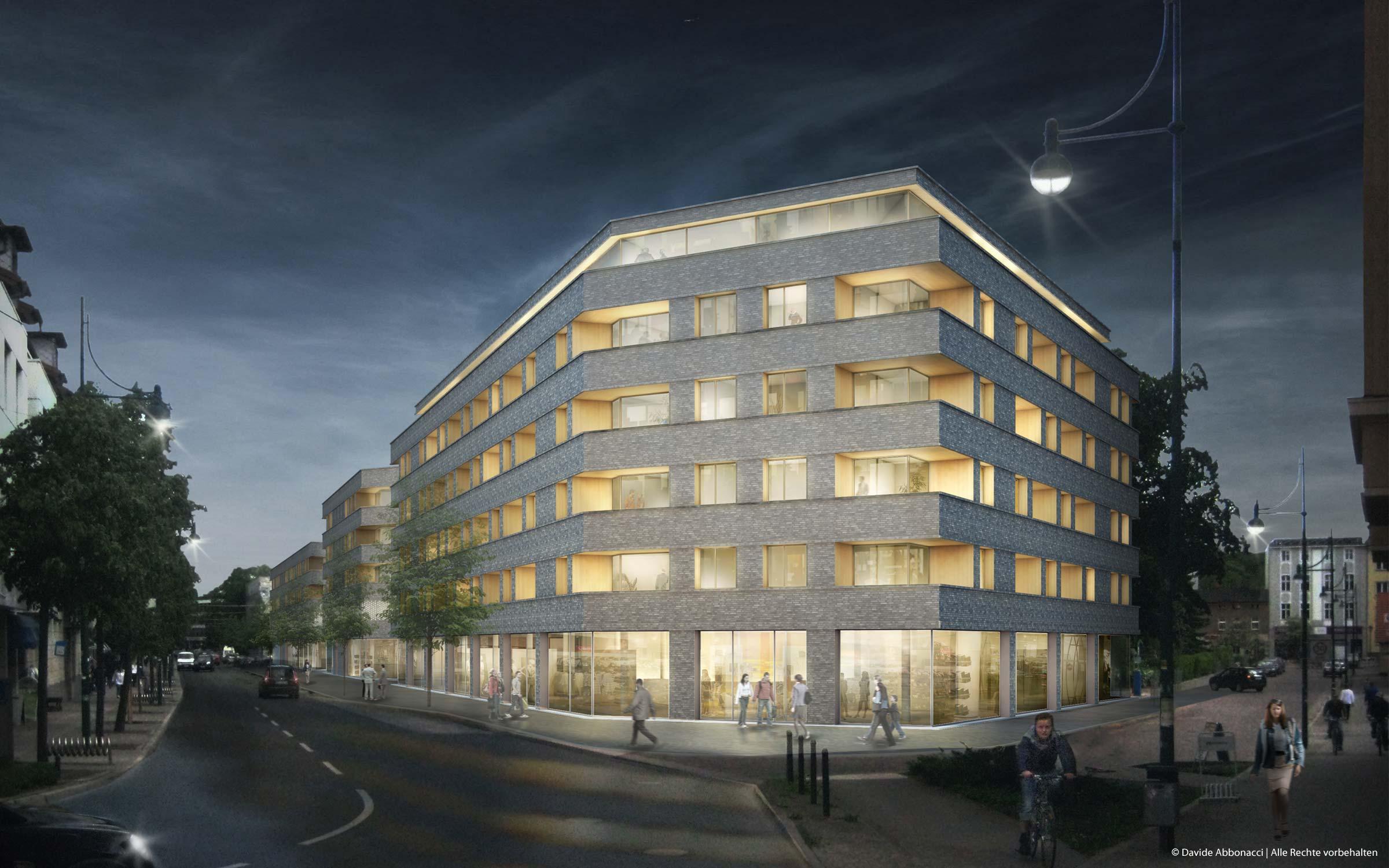 Friedrich Ebert Straße, Eberswalde | Numrich Albrecht Klumpp Architekten | 2011 Wettbewerbsvisualisierung