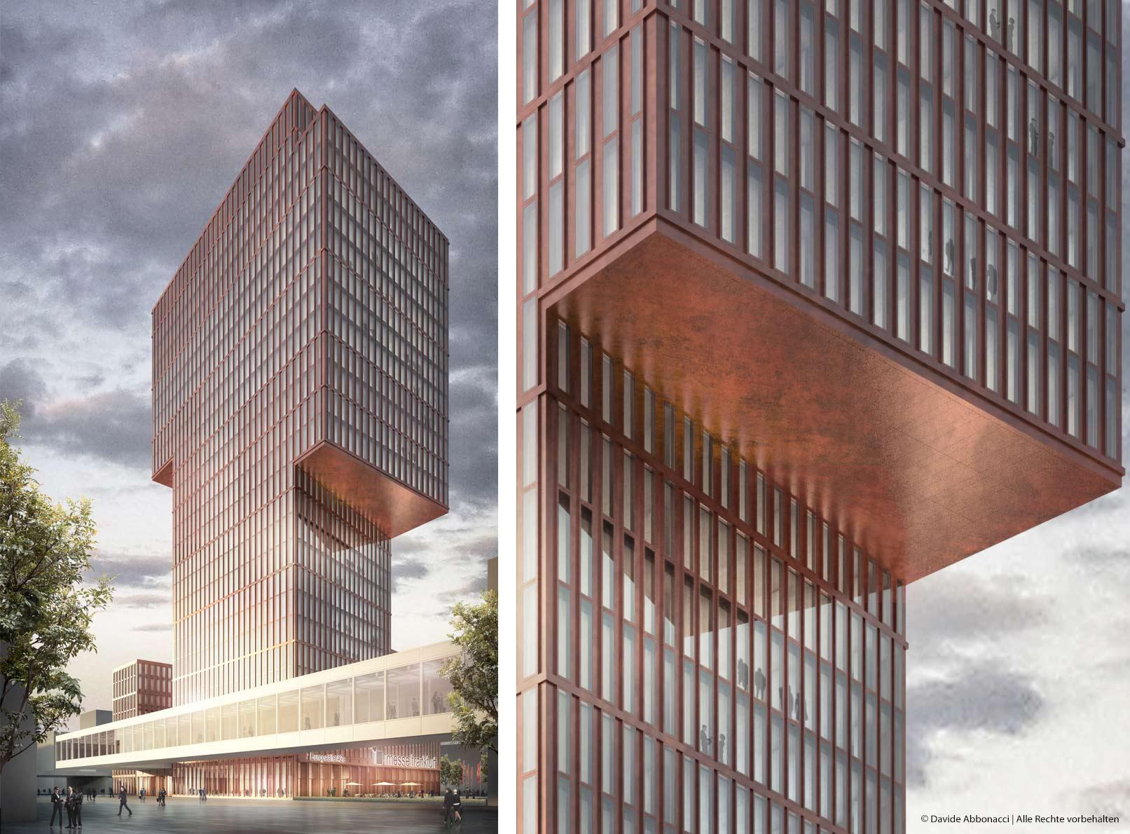 Messeeingang Süd, Frankfurt | Max Dudler Architekt | 2014 Wettbewerbsvisualisierung