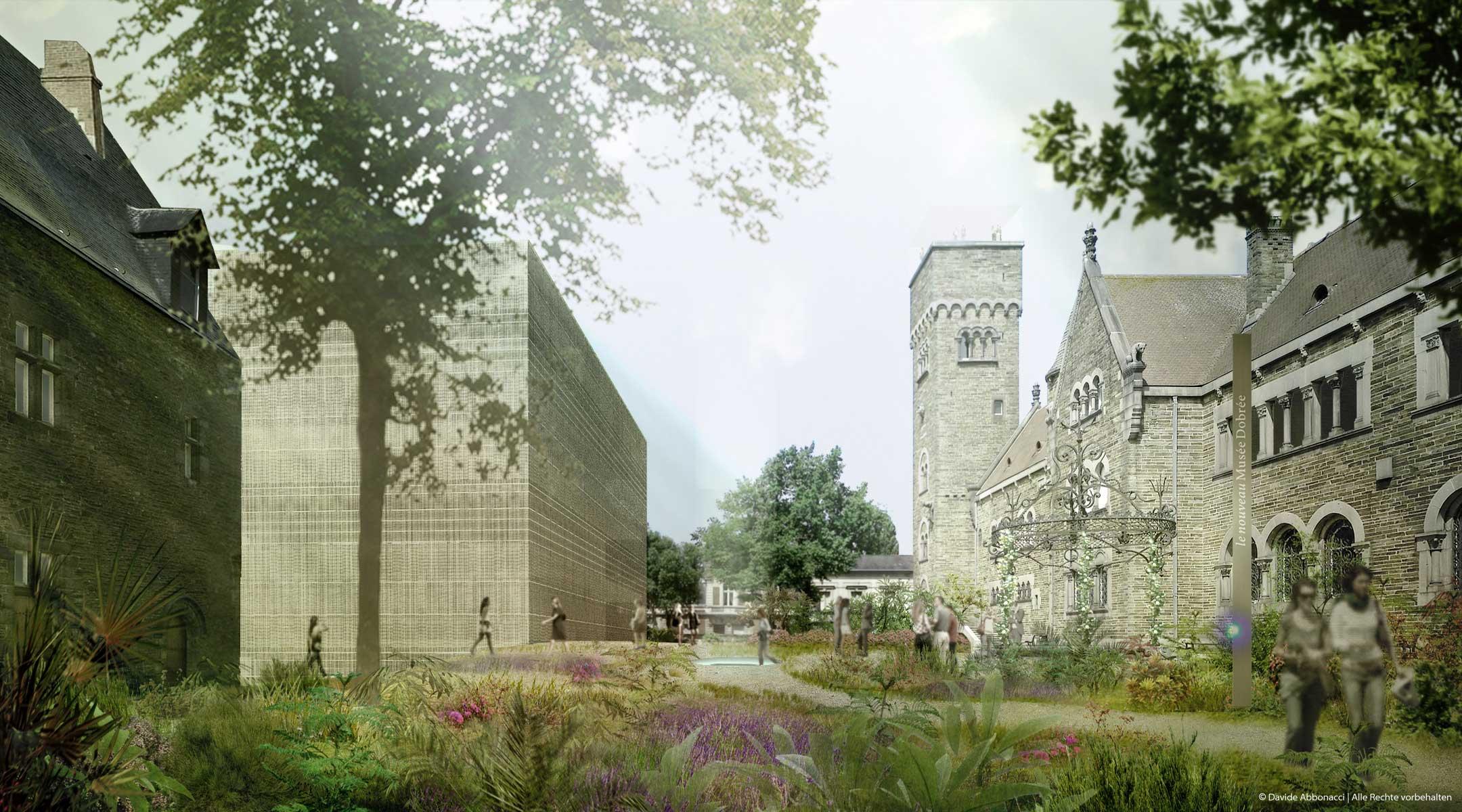 Musèe Dobrèe, Nantes   LIN Architects Urbanists   2009 Wettbewerbsvisualisierung   Mitarbeiter: Tom Hemmerich