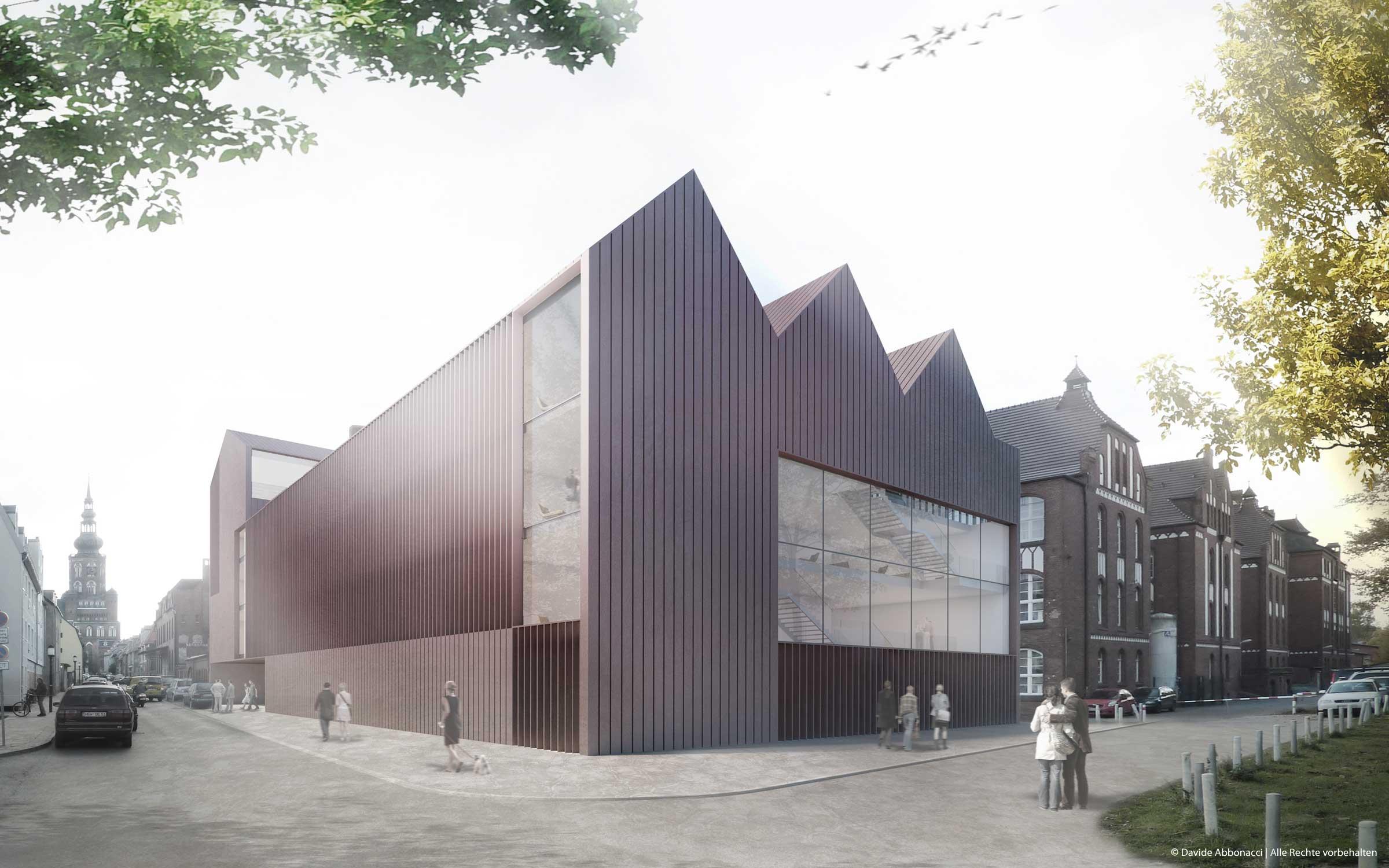 Ernst-Moritz-Arndt Universität, Greifswald   gmp Architekten von Gerkan, Marg und Partner   2011 Wettbewerbsvisualisierung