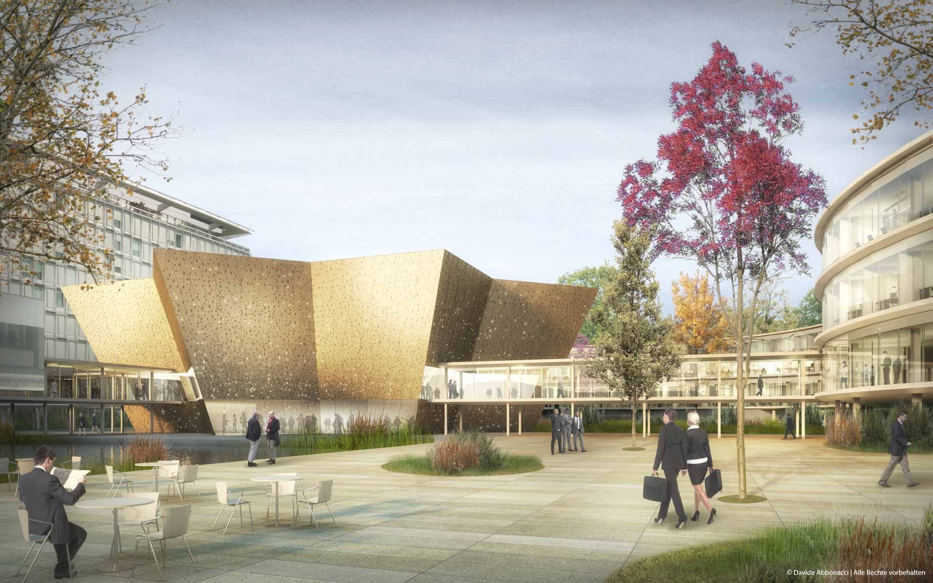 WHO Headquarters Building Extension, Geneva - Switzerland   Adjaye Associates    2014 Wettbewerbsvisualisierung