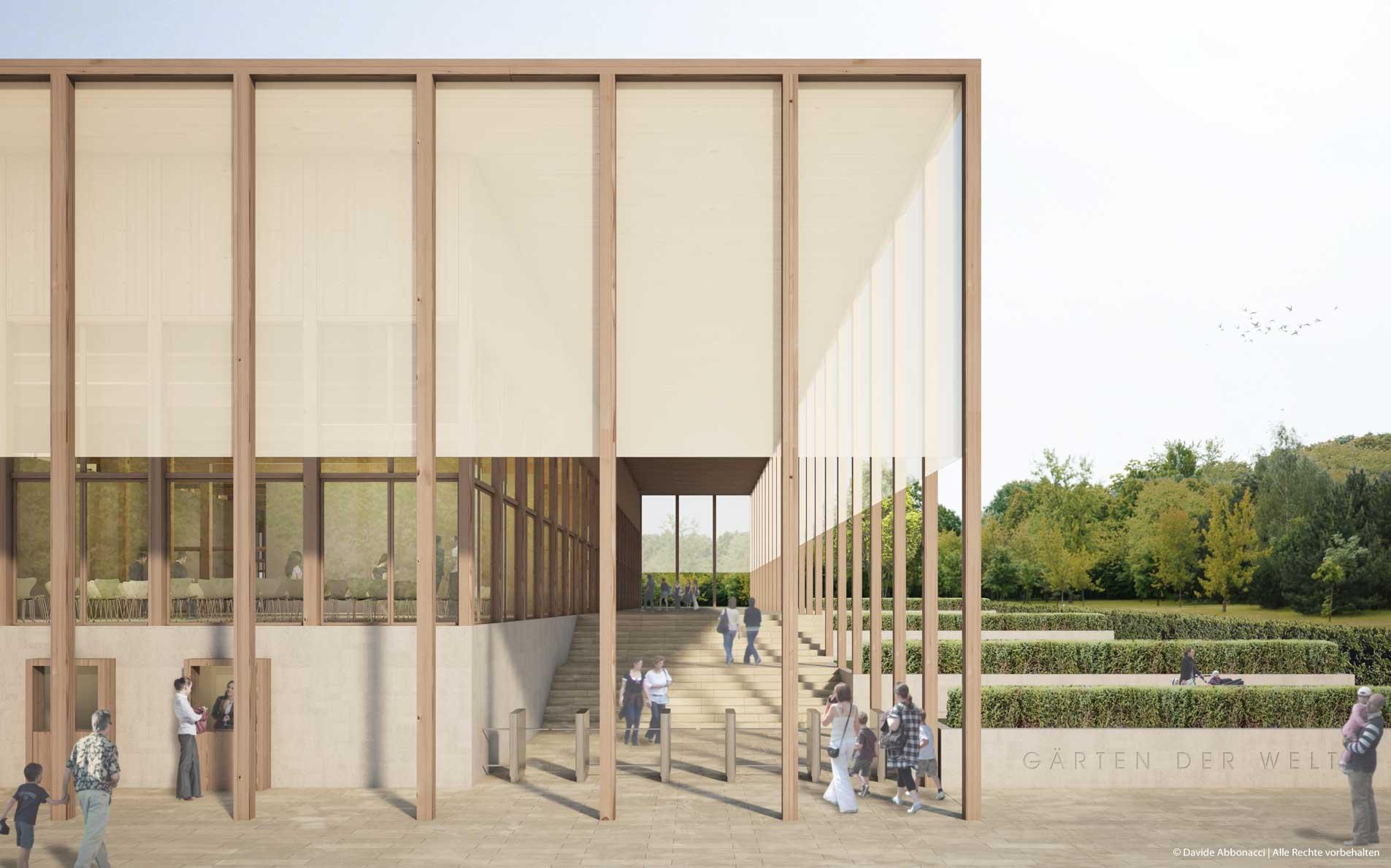Besucherzentrum Gärten der Welt, Berlin   Georg Scheel Wetzel Architekten   2013 Wettbewerbsvisualisierung