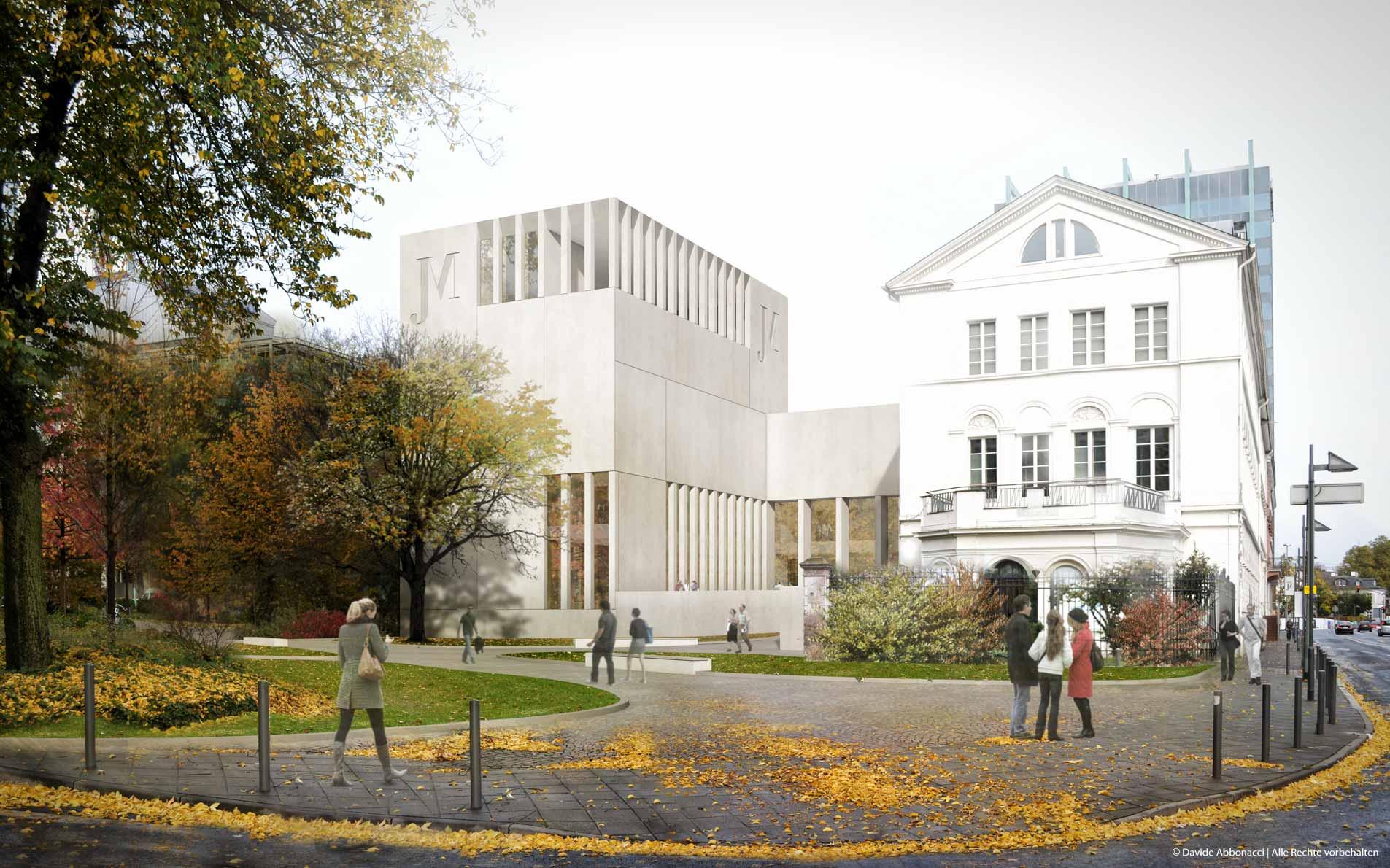 Jüdisches Museum, Frankfurt   gmp Architekten von Gerkan, Marg und Partner   2012 Wettbewerbsvisualisierung   Finalist