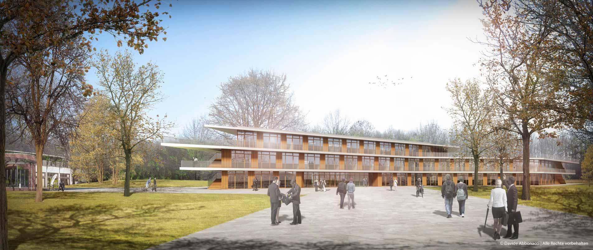 AIZ Erweiterung, Bonn-Röttgen   Numrich Albrecht Klumpp Architekten   2014 Wettbewerbsvisualisierung