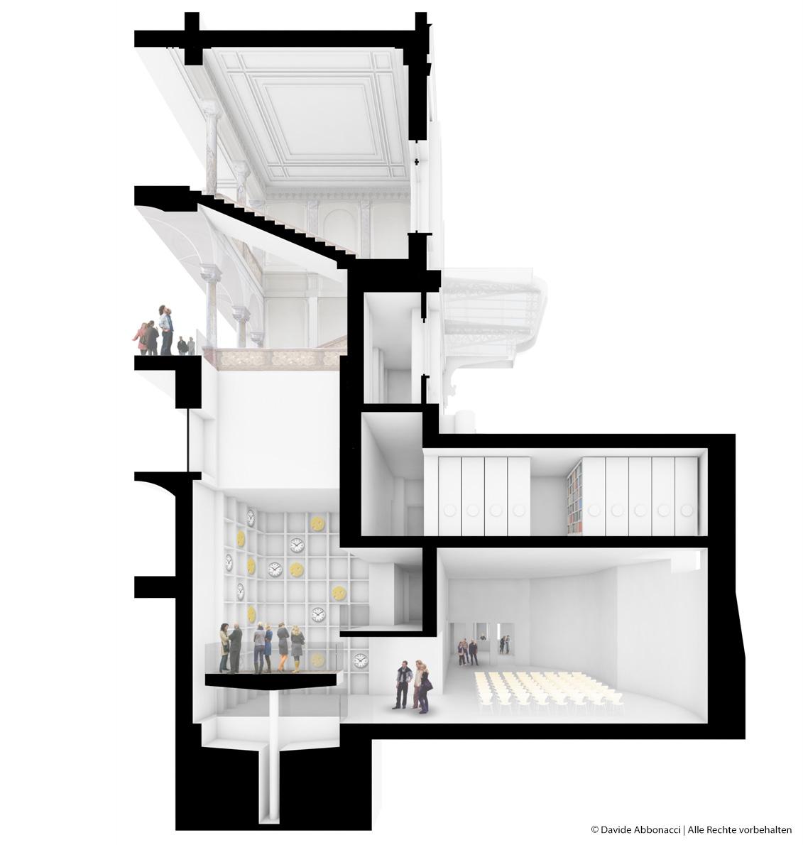 Villa Maraini, Rom, Italien | Kuehn Malvezzi Architekten | 2013 Wettbewerbsvisualisierung