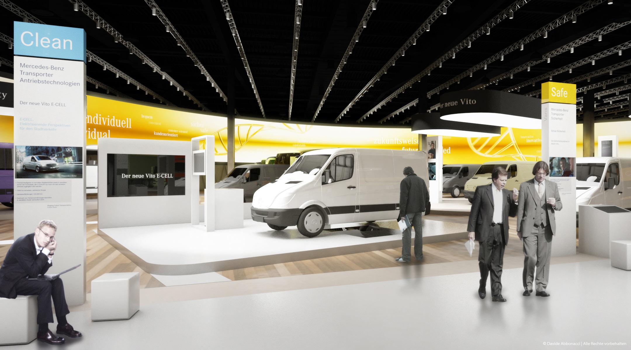 Daimler Mehrmarkenstand - IAA 2010 Nutzfahrzeuge, Hannover | Heide & Von Beckerath Architekten | 2010 Messestandvisualisierung