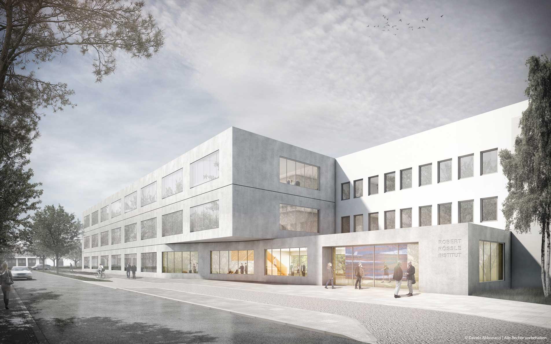 Neubau für Forschungsflächen am Robert-Rössle-Institut (RRI-OLS), Campus Buch, Berlin | Numrich Albrecht Klumpp Architekten  | 2016 Wettbewerbsvisualisierung | Anerkennung