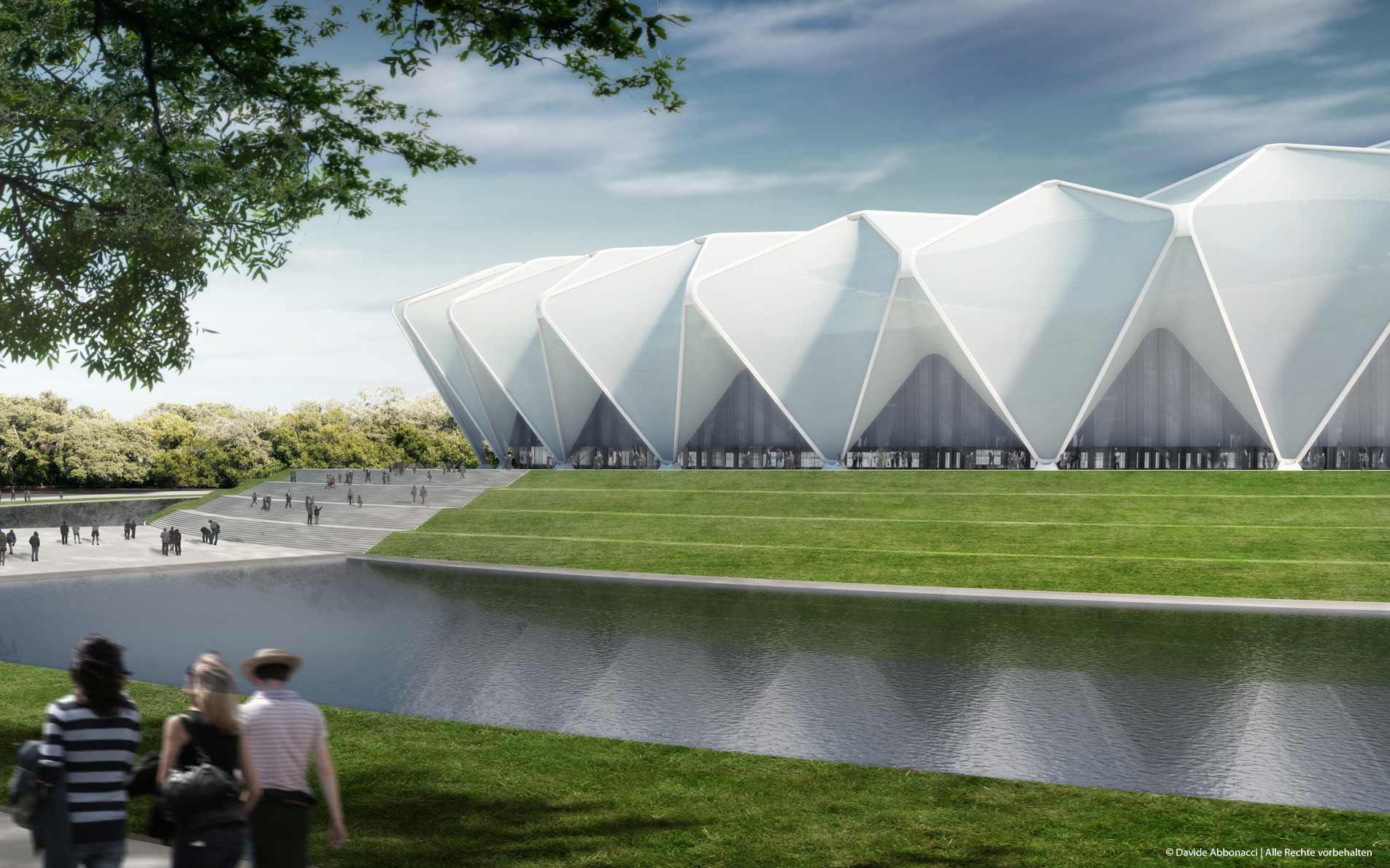 World Cup 2018 Russia – Stadium Krasnodar, Russia | gmp Architekten von Gerkan, Marg und Partner | 2012 Wettbewerbsvisualisierung
