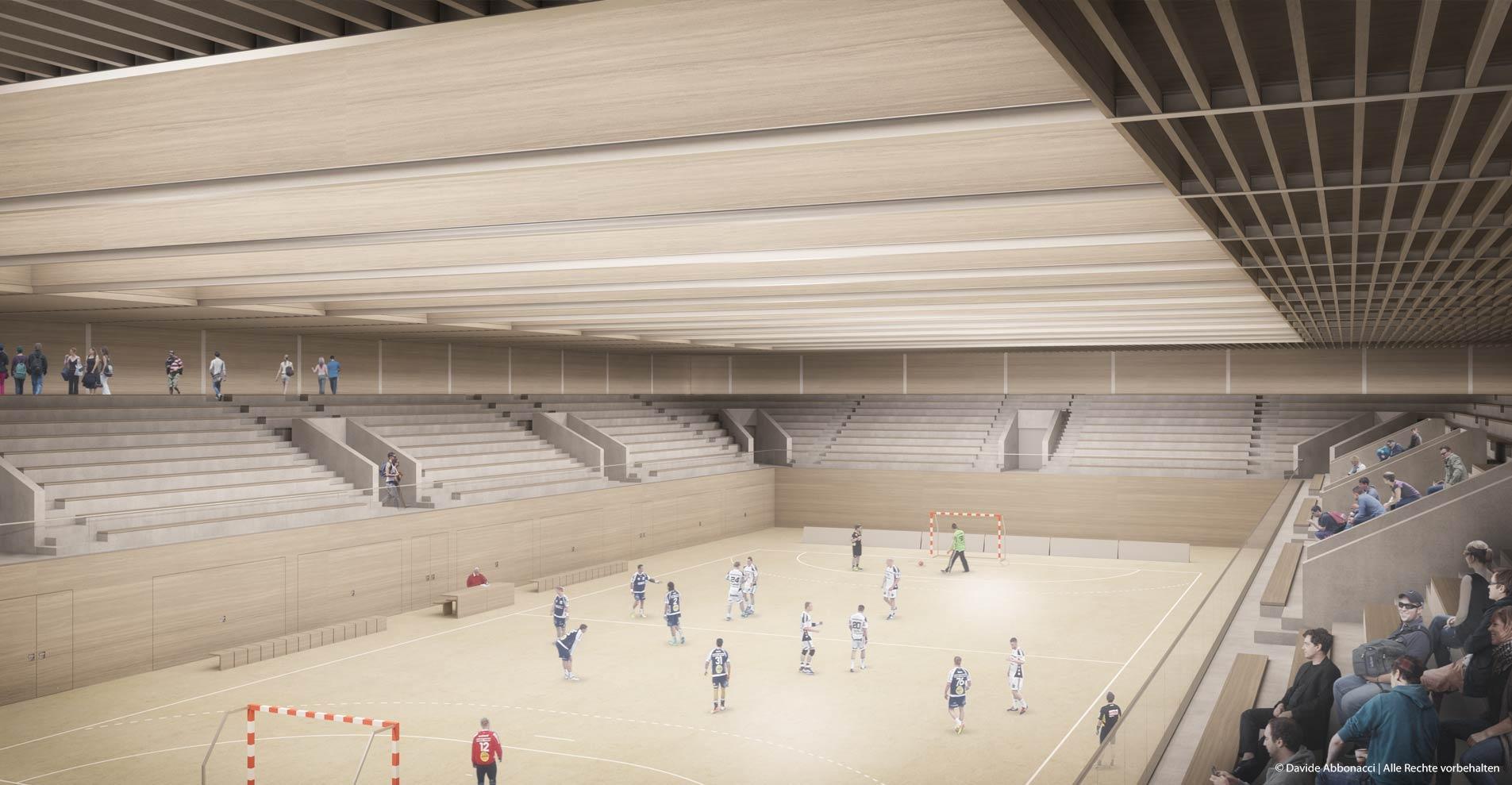 Sporthalle Erlangen | Georg Scheel Wetzel Architekten | 2014 Wettbewerbsvisualisierung