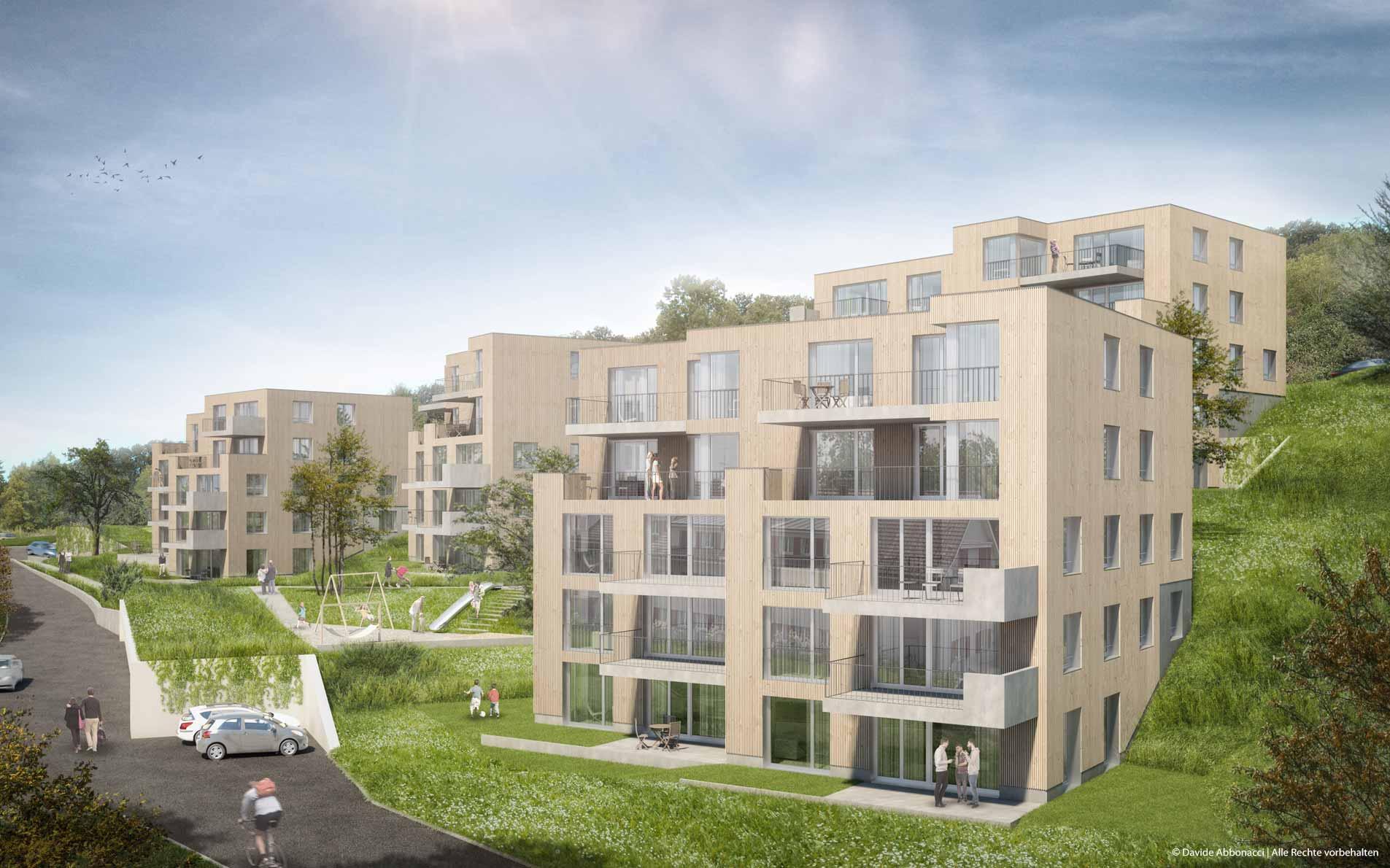 Pfannenstielstrasse, Meilen - Schweiz | BB&I Architekten | 2015 Bauschild Visualisierung