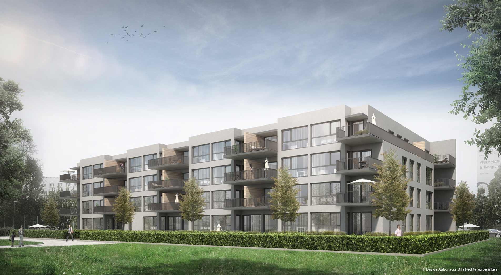 Neubau eines Wohngebäudes, Wilhelm-Külz-Straße 120, Stahnsdorf - Berlin | Wiechers Beck Architekten | 2015 Visualisierung Projektpräsentation